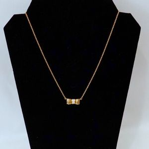 KATE SPADE~take a bow~Shimmer+Shine GOLD NECKLACE